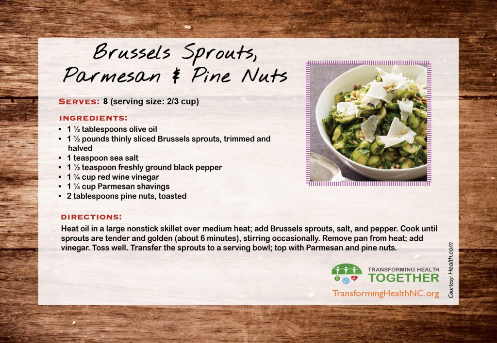 Brussel Sprouts with Parmesan and Pine Nuts