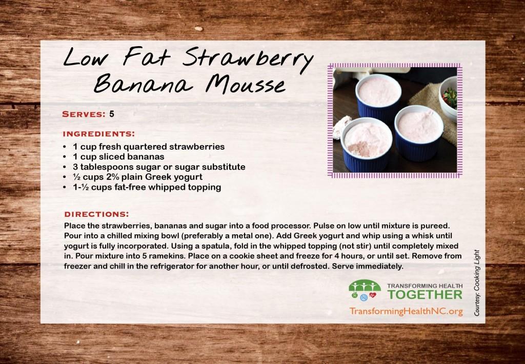 lowfat-strawberry-banana-mousse