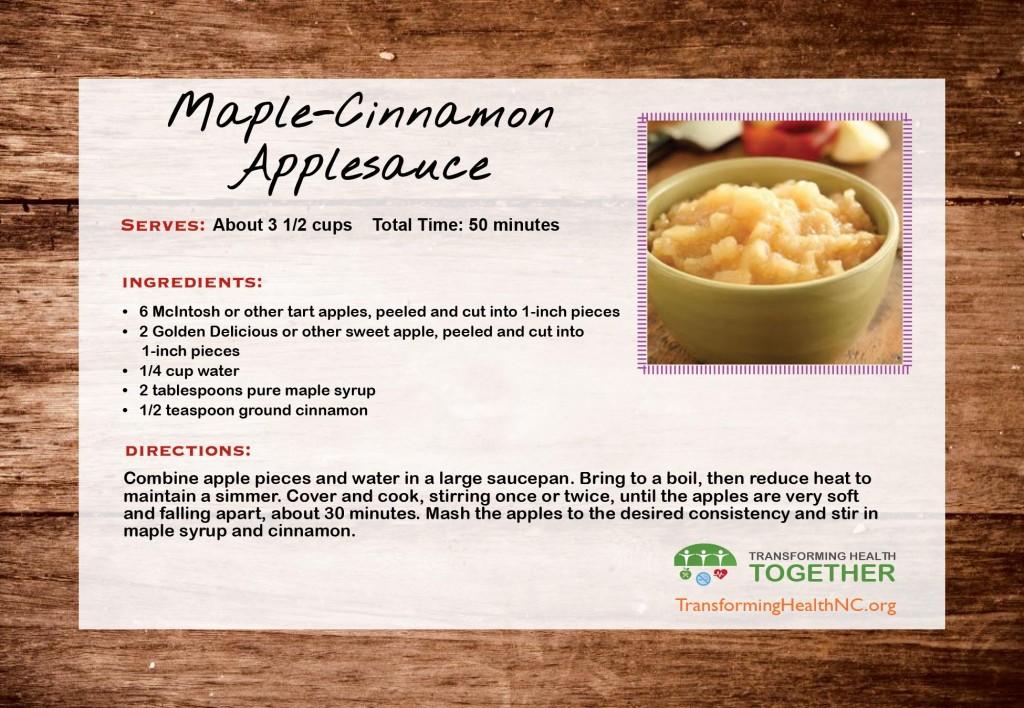 Maple Cinnamon Applesauce